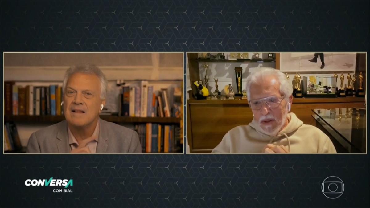 Carlos Alberto em entrevista no Conversa com Bial (Foto: Reprodução)