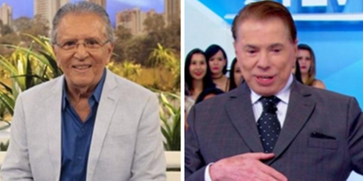 Carlos Alberto de Nóbrega e Silvio Santos tiveram briga no passado (Foto: Reprodução)