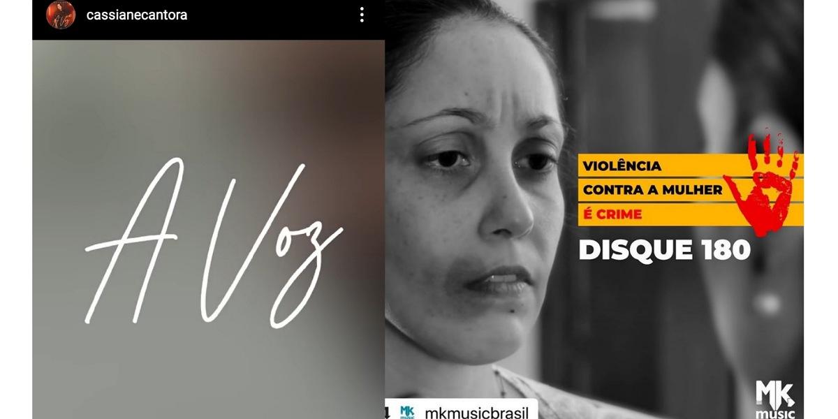 Cassiane se pronuncia após clipe gerar polêmica (Foto: Reprodução/Instagram)
