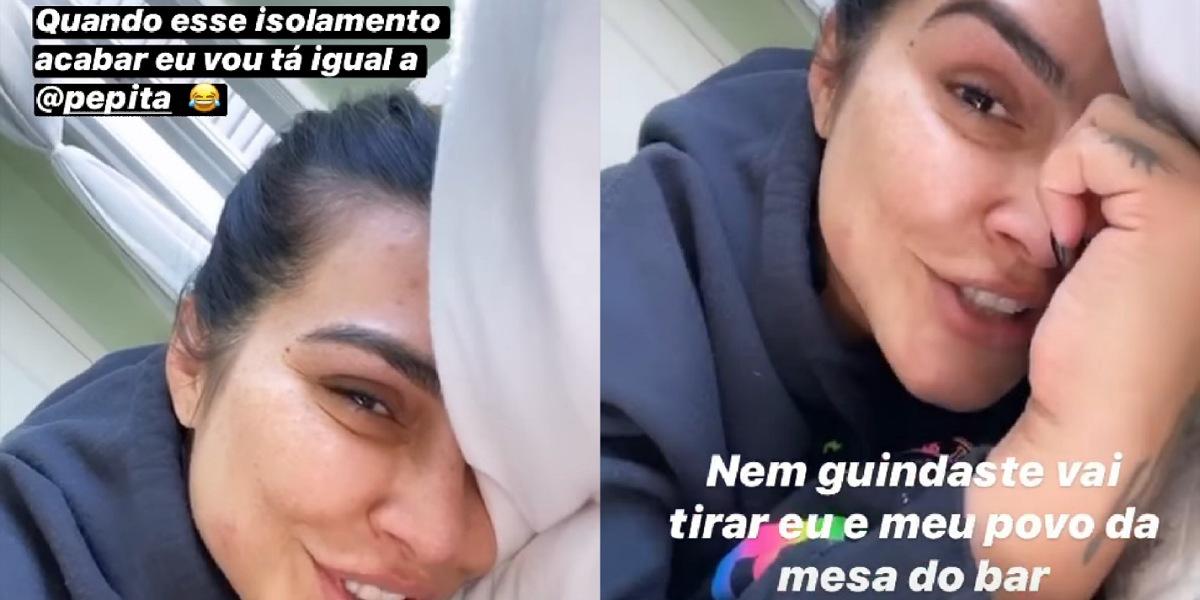 Cleo cita Pepita e revela planos para fim do isolamento social (Foto: Reprodução/Instagram)