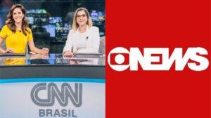 CNN Brasil divulgou imagens da Globo ao vivo (Foto: Divulgação)