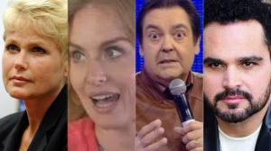 Xuxa, Angélica, Faustão e Luciano Camargo roubaram a atenção nesta sexta (Foto: Divulgação)