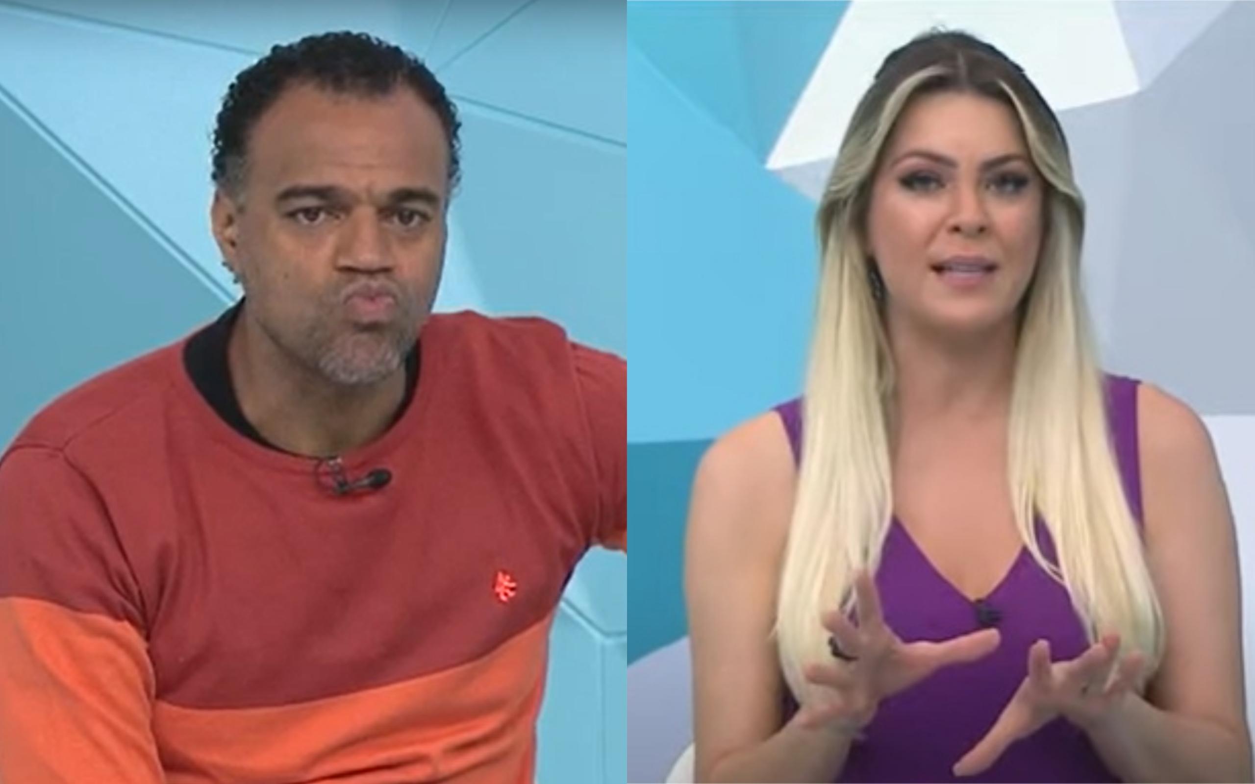 Denílson se revoltou com Renata Fan no Jogo Aberto (Foto: Divulgação)