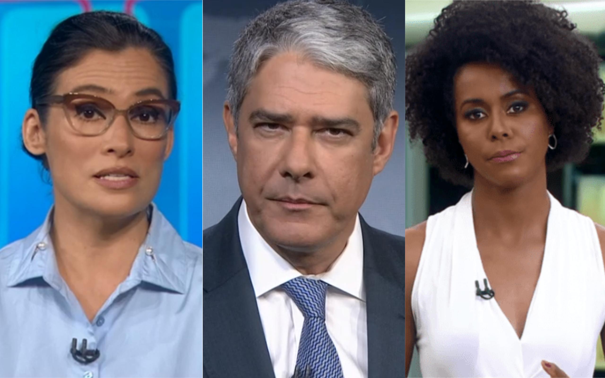 Renata Vasconcellos, William Bonner e Maju Coutinho (Foto: Divulgação)