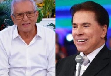 Carlos Alberto de Nóbrega e Silvio Santos (Foto: Divulgação)