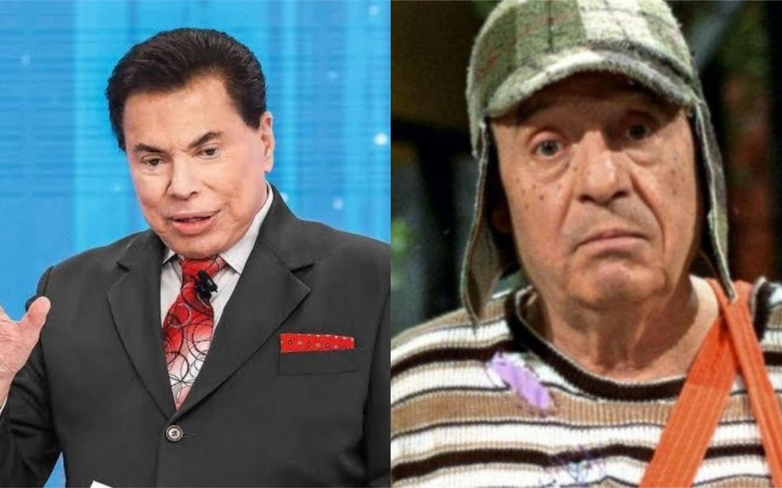 Silvio Santos e Chaves (Foto: Divulgação)