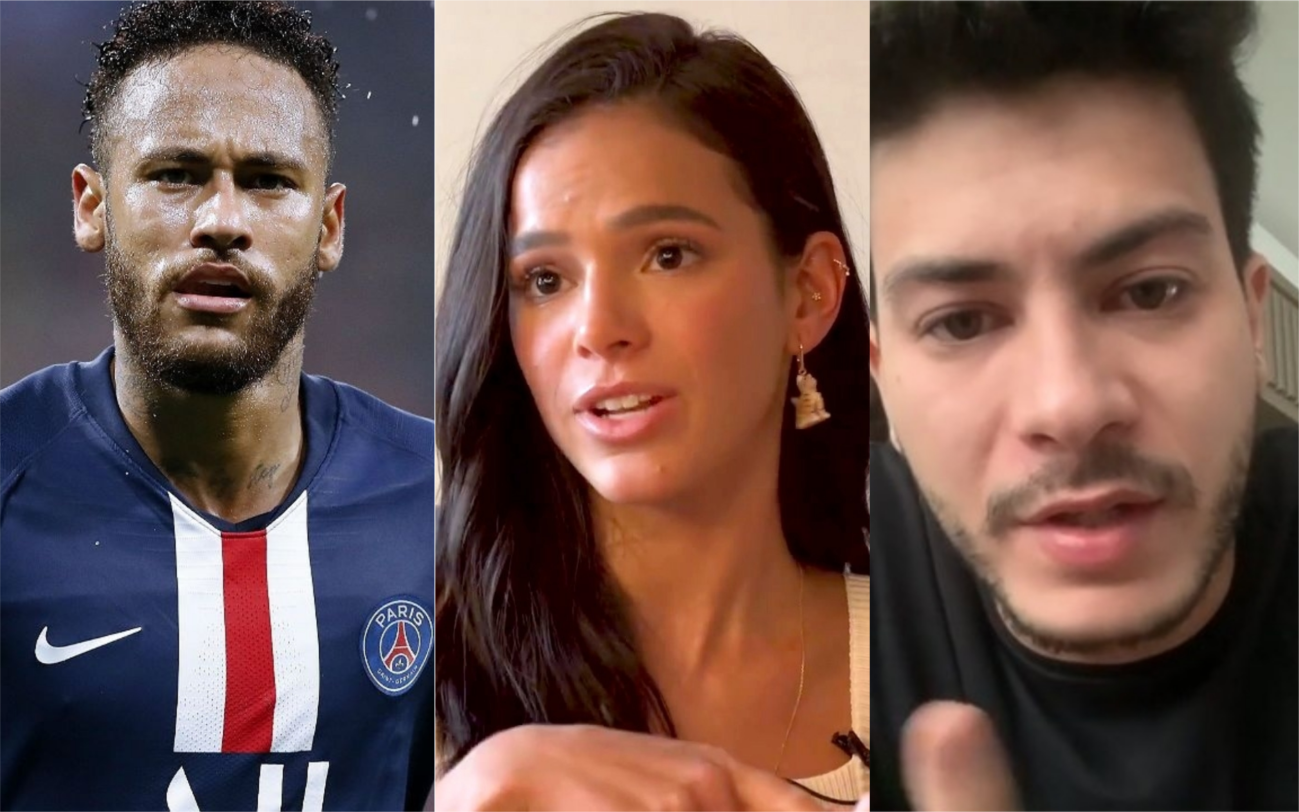 Neymar, Bruna Marquezine e Arthur Aguiar foram envolvidos em escândalo (Foto: Divulgação)