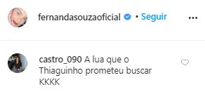 Comentário post Fernanda Souza