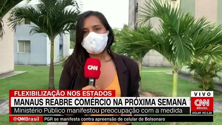 A repórter Luciene Kaxinawá foi demitida após seis meses na emissora (foto: Reprodução/CNN Brasil)