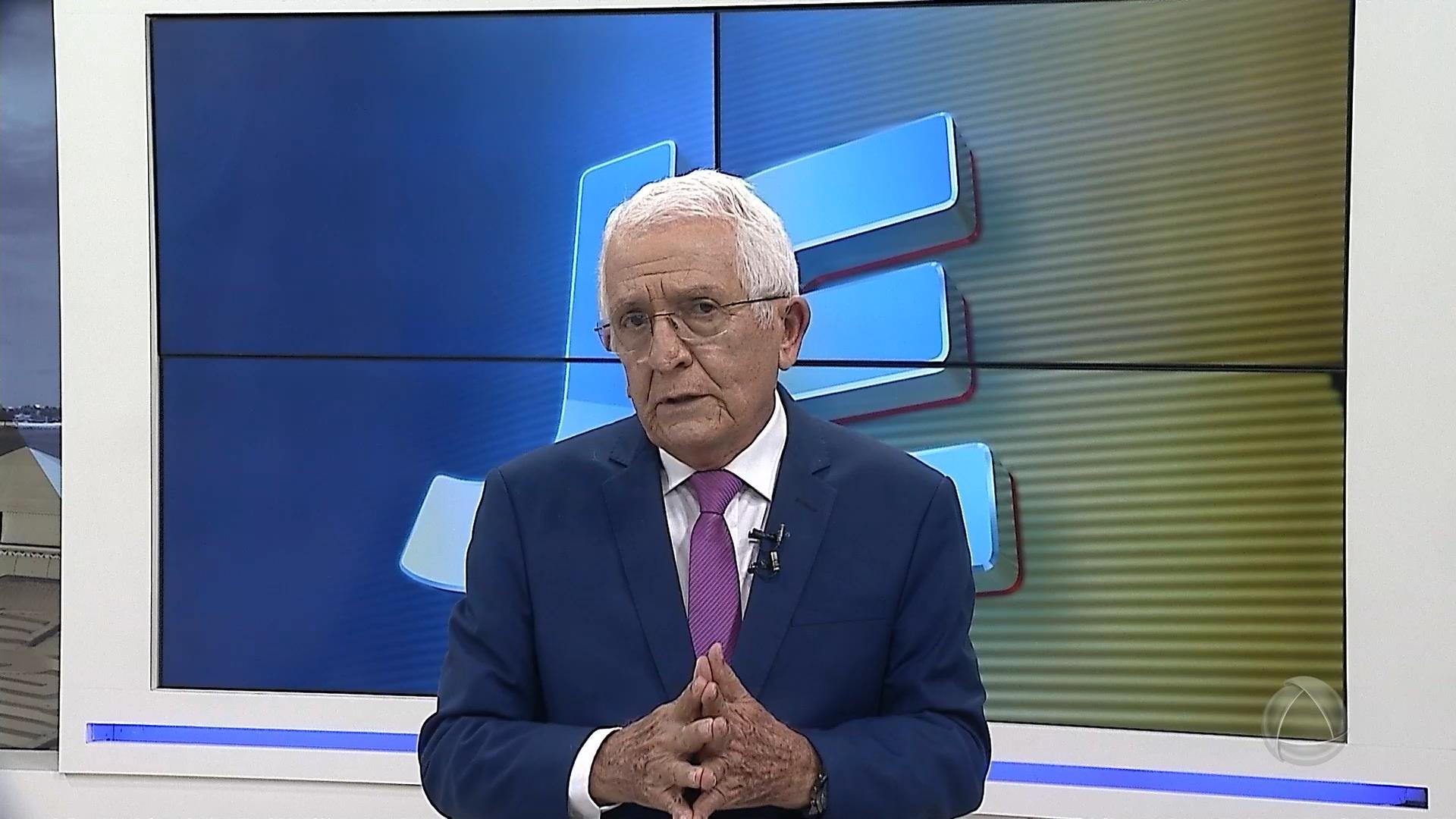 Gilvan Fontes voltou ao Jornal do Estado na terça, dia 7 (foto: Reprodução/Record)