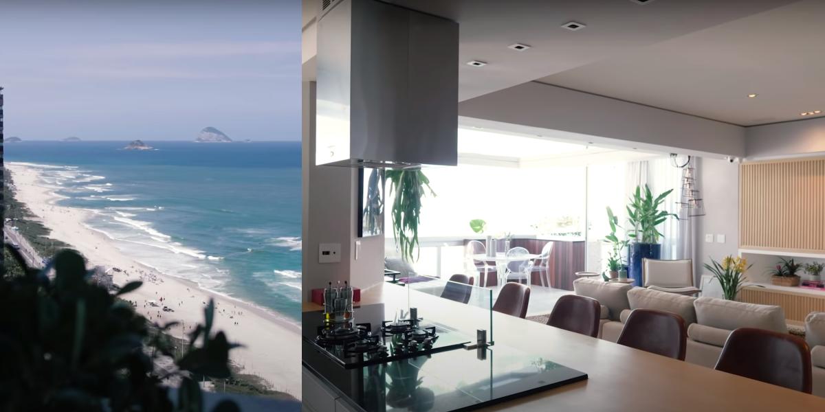Vista do apartamento de Deborah Secco (Foto: Montagem/ Casa Vogue Brasil)