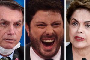 Jair Bolsonaro, Danilo Gentili e Dilma Rousseff (Foto: Montagem/TV Foco)