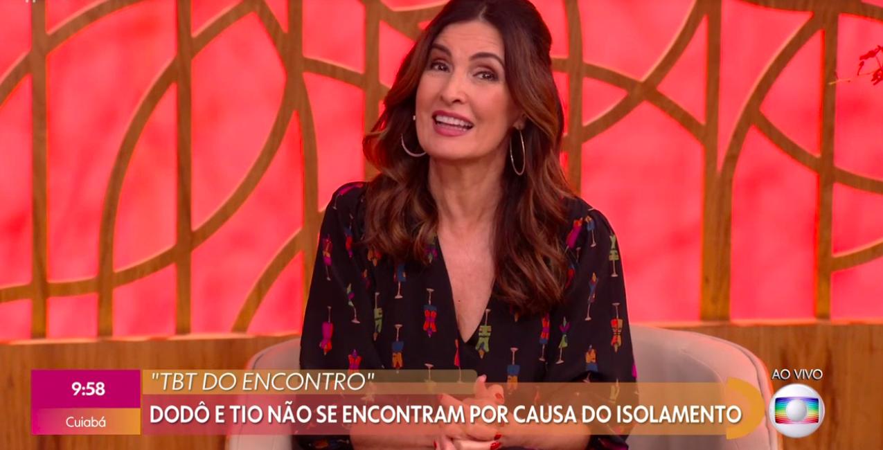 Fátima Bernardes foi pega de surpresa ao vivo na Globo (Foto montagem)