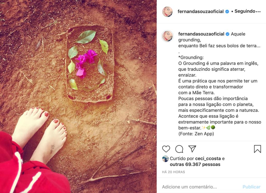 Captura de tela Instagram Fernanda Souza (Foto: Reprodução)