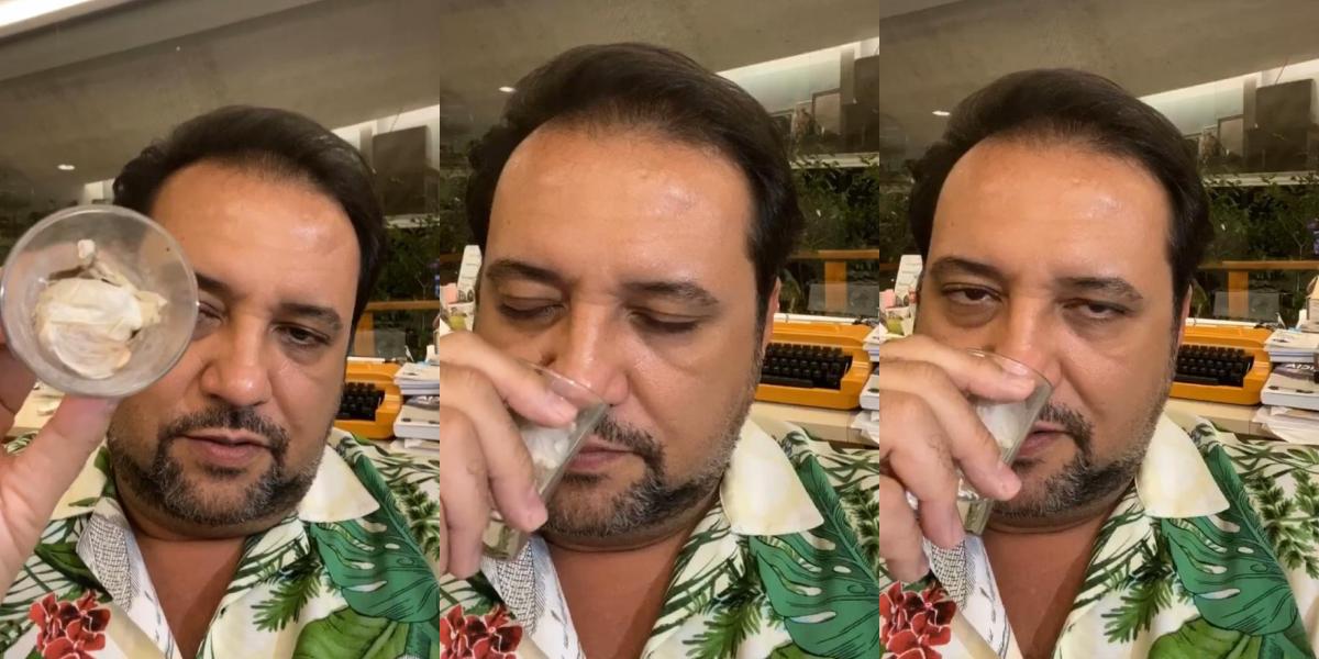 Geraldo Luís em ritual bizarro (Foto: Montagem)