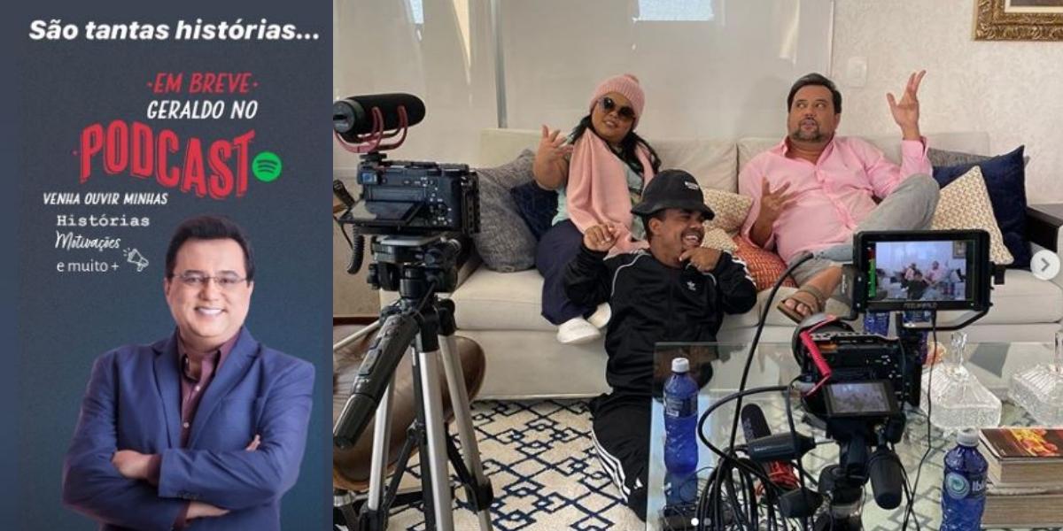 Geraldo Luís em novos projetos no Youtube e Podcast no Spotify (Foto: Montagem)