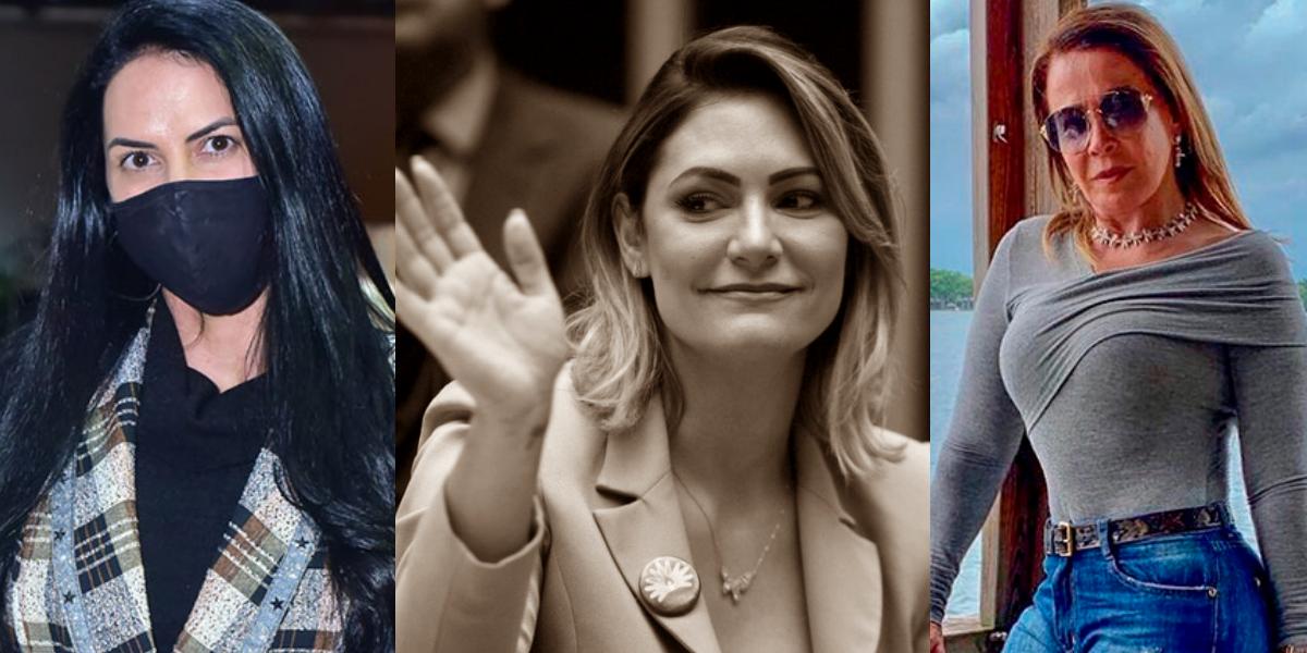 Graciele Lacerda, Michelle Bolsonaro, Zilu (Foto: Montagem)