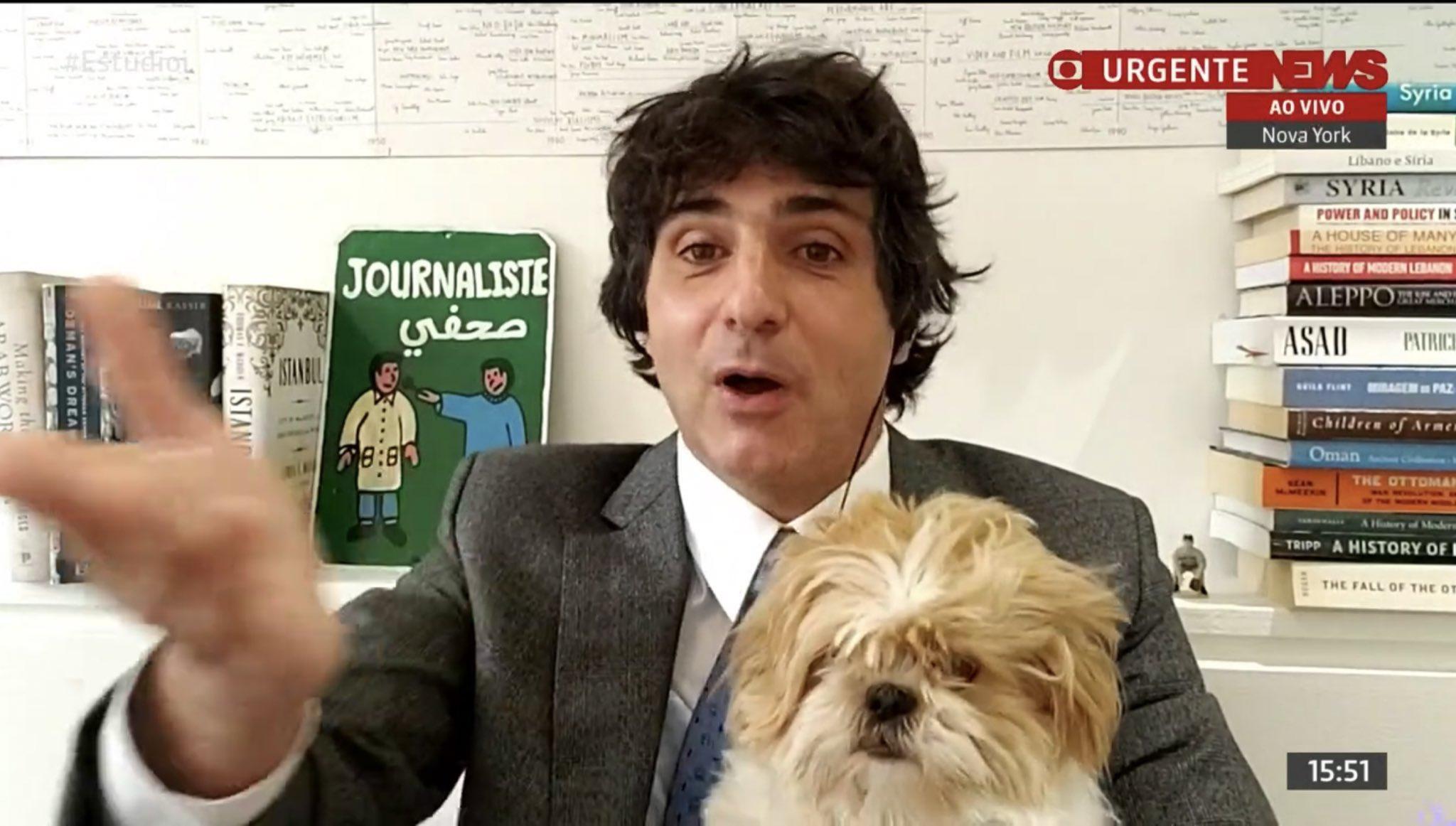 Guga Chacra surpreende ao mostrar cão (Foto: Reprodução)