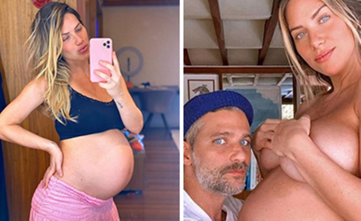 Giovanna Ewbank deu à luz ao primeiro filho Biológico com Bruno Gagliasso (Foto: Montagem)
