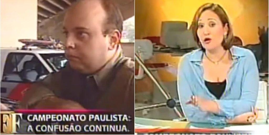 SBT fez cobertura de confusão em estádio com a Globo. (Foto: Reprodução)