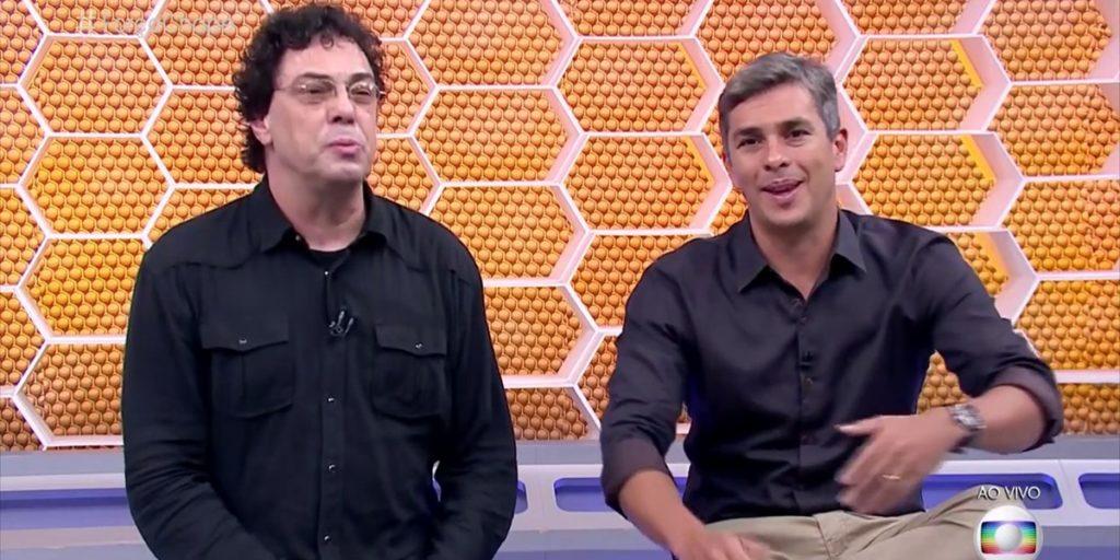 Ivan Moré e Casagrande eram colegas na Globo. (Foto: Reprodução)