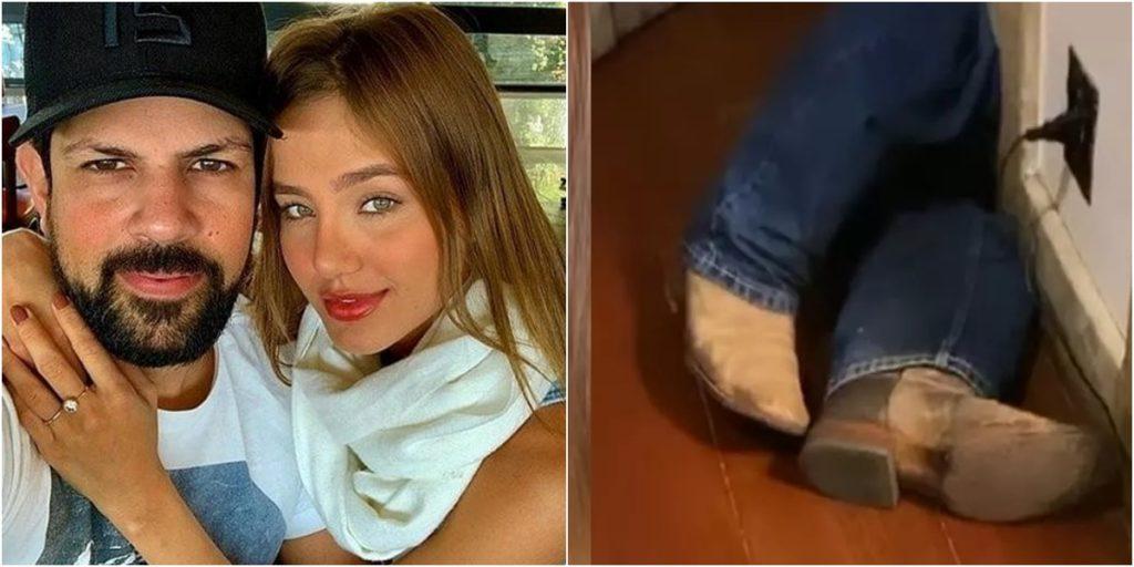 Biah Rodrigues se assustou com calça e botas de Sorocaba. (Foto: Montagem/Reprodução/Instagram)