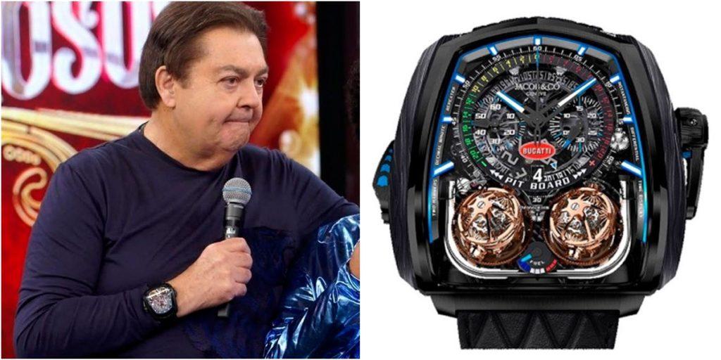 Faustão tem relógio que custa milhões. (Foto: Montagem/Reprodução)