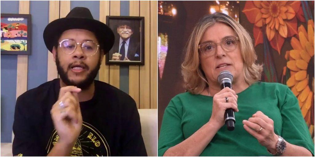 Barbara Gancia detonou Emicida após participação do cantor no Roda Viva. (Foto: Montagem/Reprodução)