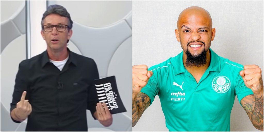 Neto reencontrou Felipe Melo após polêmica. (Foto: Montagem/Reprodução)