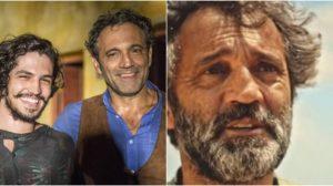 Gabriel Leone contracenou com Domingos Montagner em Velho Chico. (Foto: Montagem/Reprodução)