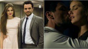 Camila Queiroz e Rodrigo Lombardi protagonizaram cenas quentes em Verdades Secretas. (Foto: Montagem/Rerodução)