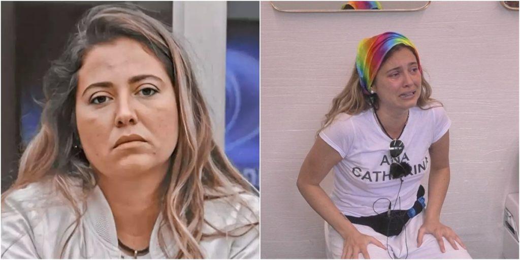 Ana Catharina foi informada sobre a morte do pai no Big Brother Portugal. (Foto: Montagem/Reprodução)