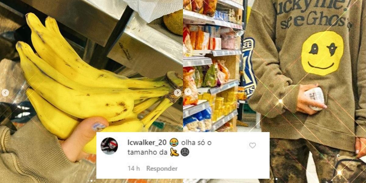 Sequência de fotos de João Guilherme com comentário de seguidora (Foto: Montagem)