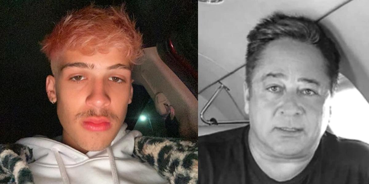 João Guilherme e seu pai Leonardo (Foto: Montagem)