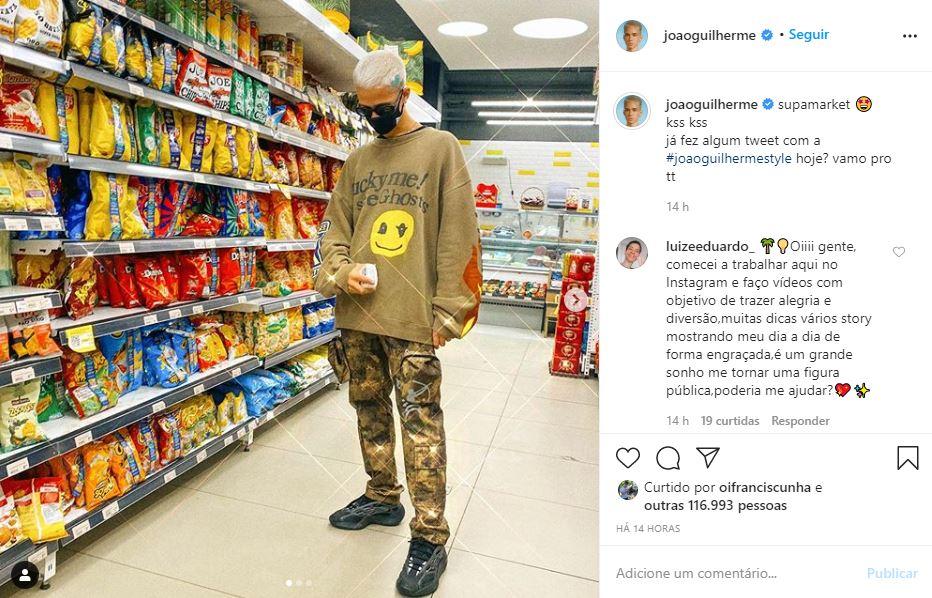 Captura de tela do Instagram do João Guilherme (Foto: Reprodução)
