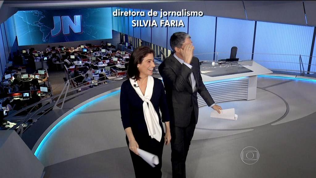 William Bonner e Renata Vasconcellos no final do Jornal Nacional (Foto: Reprodução)