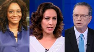Joyce Ribeiro, Cynthia Benini, Hermano Henning ex-âncoras SBT (Foto: Montagem)