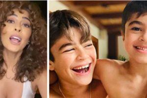 Juliana Paes teve momento de surto com os filhos (Foto: Montagem/TV Foco)