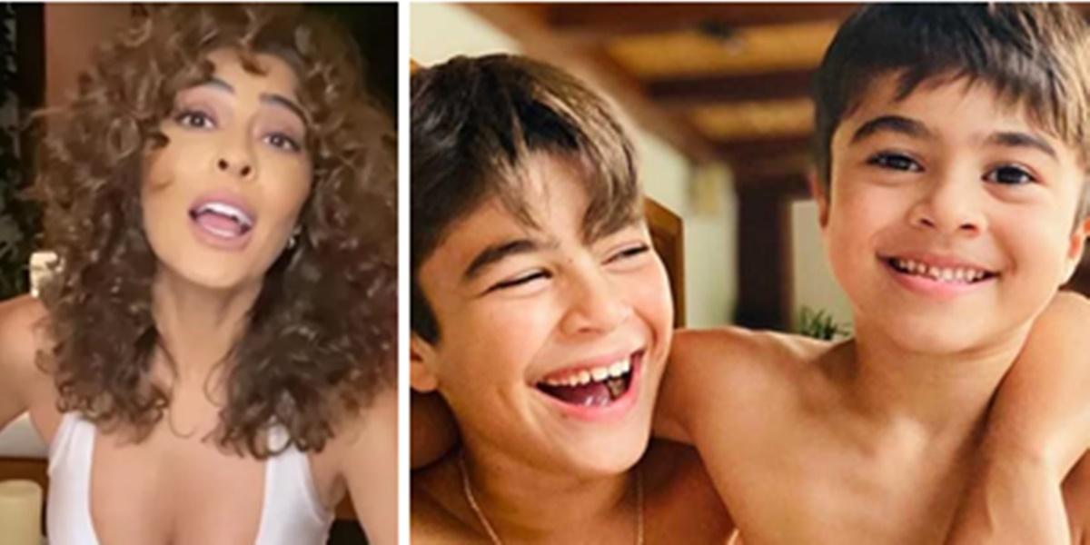 Juliana Paes teve momento de surto com o filho (Foto: Montagem/TV Foco)