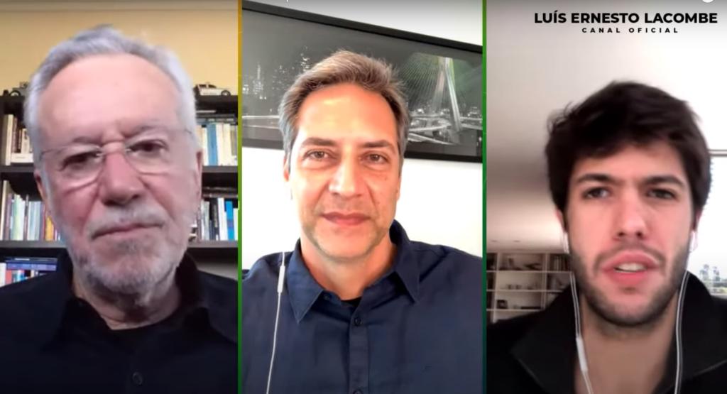 Luís Ernesto Lacombe, Alexandre Garcia e Caio Coppolla (Foto: Reprodução)