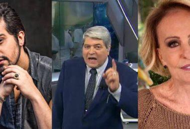 Momentos bizarros na TV com Luan Santana, Datena e Ana Maria Braga (Foto: Montagem)