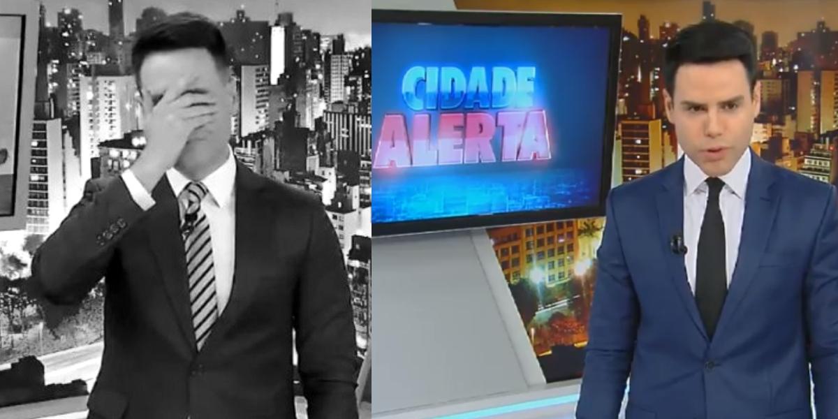 Luiz Bacci no Cidade Alerta da Record (Foto: Montagem)