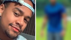 Leo Santana deixou o seu abdômen definido em evidência marcado na camisa (Foto: Montagem/TV Foco)