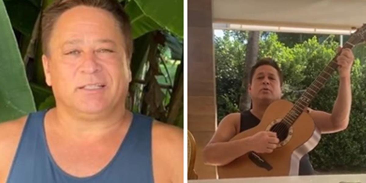 Poliana Rocha: Leonardo apareceu cantando em vídeo divertido (Foto: Montagem/TV Foco)