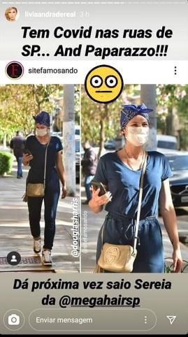Lívia Andrade repercutiu foto dela saindo de salão de beleza (Foto: Reprodução)