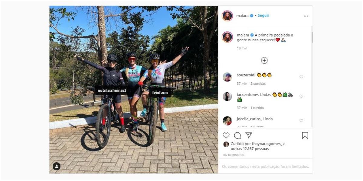 Maiara, da dupla com Maraísa, fez post nas redes sociais (Foto: Reprodução/Instagram)