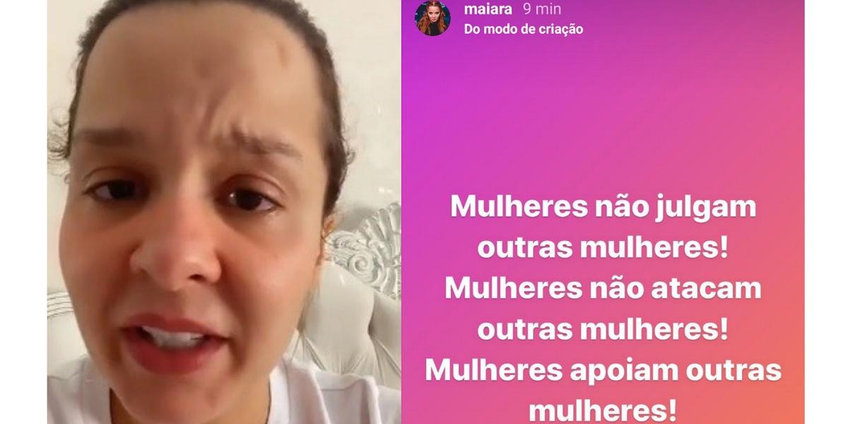 Em live, Maiara revela ataques e faz pedido após término com Fernando Zor (Foto: Reprodução/Instagram)