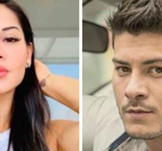 Mayra Cardi detonou Arthur Aguiar em entrevista a Leo Dias (Foto: Montagem/TV Foco)