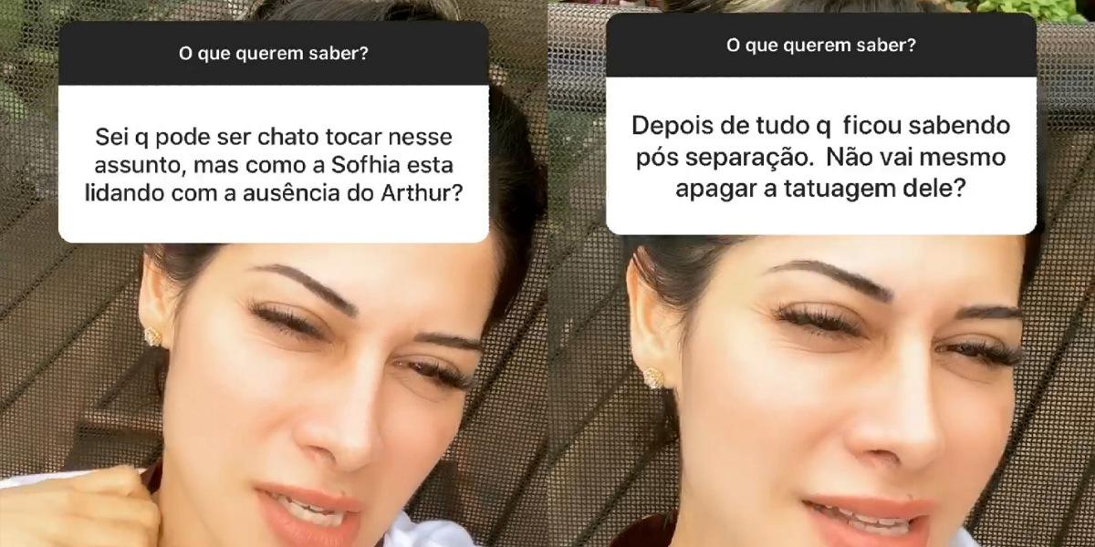 Mayra Cardi responde perguntas de seguidores no instagram (Foto: Reprodução/Instagram)
