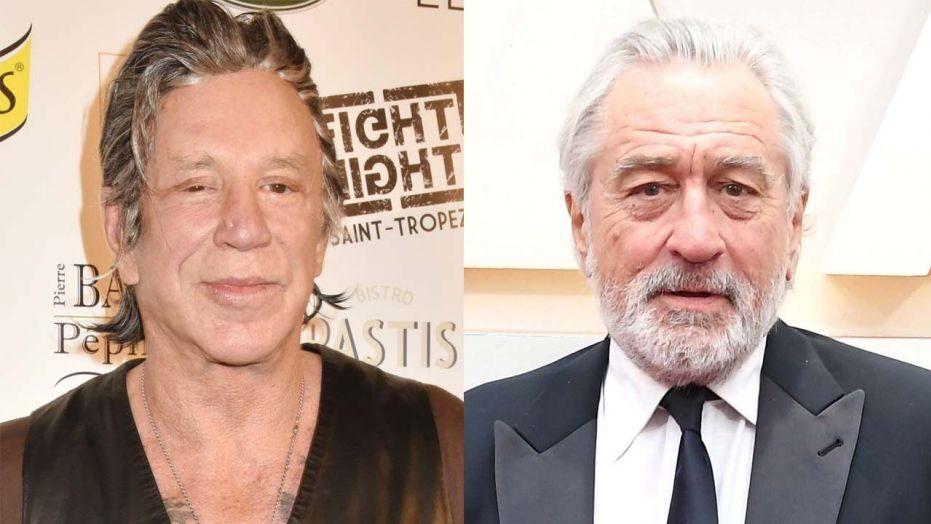 Mickey Rourke e Robert De Niro (Foto: Reprodução)